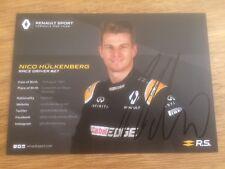 "Nico HULKENBERG RENAULT Driver FORMULA UNO Firmato a Mano Carta Foto 6"" x 4""."