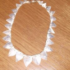 Vintage Miriam Haskell Mother of Peal leaf Necklace