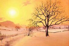 LE #1 4X6 POSTCARD RYTA CHRISTMAS WINTER REALISM LANDSCAPE SUNSHINE SNOW BRIGHT