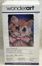 "WonderArt Caron Prize Kitty 426145 Latch Hook Kit 15""x20"" Intermediate New"