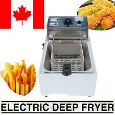 5.5L Electric Deep Fryer Commercial Frying Basket Scoop PotatoChurros Frying Pan