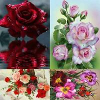 5D Full Round Drill DIY Diamond Painting Flower Cross Stitch Embroidery Kit R1BO