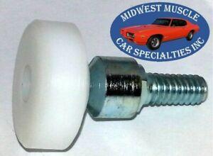 68-74 GM Door Rear Quarter Plastic Window Crank Glass Regulator Roller New 1pc O