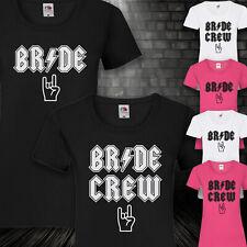 T-shirt jga camisa novia Bride Crew rock n roll soltera señora