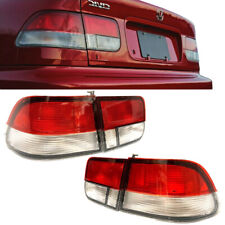 Lights Rear fit Honda Civic Coupe 96-2000 Red Clear 2Dr Brake Tail Lights set