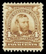Scott 303 1903 4c Brown Grant Regular Issue Mint VF OG LH Cat $55