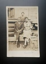 Antique African American Beautiful Family Real Photo Postcard Black Americana