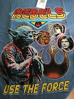 Mens Star Wars Rebels Use the Force Blue T Shirt 2XL New with Tags
