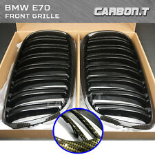 M Type Brown Carbon Look Front Grille For BMW E71 X6 Series E70 X5 Series