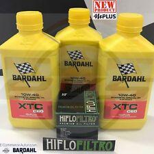 Kit 3 Litri Olio Moto Bardahl XTC C60 10W40 Polarplus Fuller +Filtro HIFLO HF303