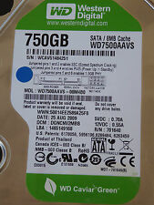 Western Digital WD7500AAVS-00M4B0 | DGNCNV2MBB | 25 AUG 2009  750GB disco rigido