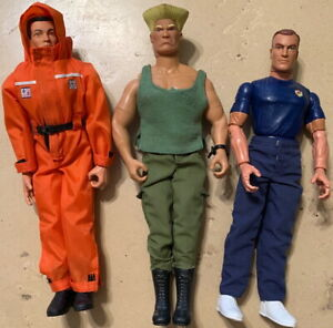 "GI JOE Poseable Action Figures Lot of 3 Vintage 12"" Military 1990s/2000s W"