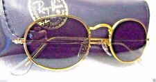 """RAY-BAN *NOS VINTAGE B&L """"Lennon Style"""" W0976 24k Classic Metals *NEW SUNGLASSES"""