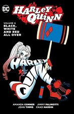 DC COMICS HARLEY QUINN VOL 6 BLACK WHITE AND RED ALL OVER HC HARDCOVER RED TOOL