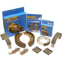 Grooved Brake Pads~2004 Suzuki VL800 Intruder Volusia Emgo 64-81382