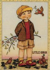 Little Robin-Handcrafted Spring Fridge Magnet-W/Mary Engelbreit art