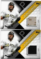STARLING MARTE LOT OF 2 DIFFERENT 2018 TOPPS MLB MATERIAL GAME USED JERSEY CARDS