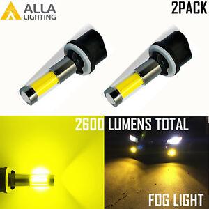 AllaLighting LED 880 Golden Yellow No Dark Spot Driving Fog Light inclement fogy