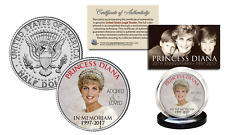 PRINCESS DIANA 20th Anniversary KENNEDY Half Dollar Coin - Royal Crown Edition