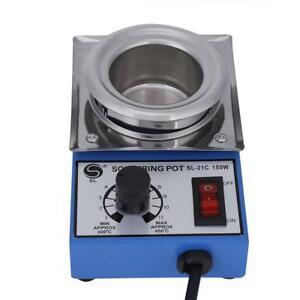 50mm Solder Pot Soldering Desoldering Bath Titanium Melting Plate 110V 220V 150W
