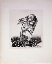 A. Paul Weber: Das alte Lied. Original-Lithografie, signiert.