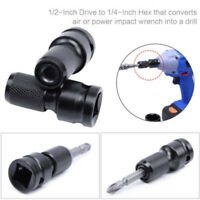 "1/2"" Drive To 1/4"" Hex Drill Chuck Converter Sockets Adapters For Impact Wrench"