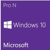 10 Pro N Win - Key/Clave Licencia/license 32/64 Bits 100%Original Alphanumeric