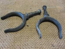 Vintage Cast Iron Row Boat Oar Guide Set of 2 > Antique Old Fishing Boating 8888