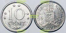 Netherlands Antilles 10 cents 1971-1977 16mm steel Coin