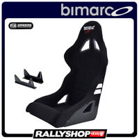 BIMARCO Seat FIA EXPERT BLACK with fixing brakets Racing CHEAP DELIVERY WORLD