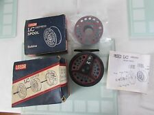 """A1 vintage Leeda LC80 trout fly fishing reel  + spare spool 3.+ 3/8ths"""" boxed"""