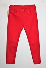 "KSUBI Designer Women's Red Slim Crop Denim Jeans Size 28"" BNWT #TM112"
