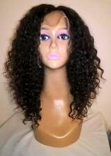 """12"""" 6A #1b Brazilian Virgin Deep Curly 150% Density Lace Front Wig w/ Baby Hair"""