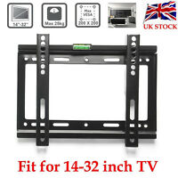 "UK LED LCD Plasma TV Wall Mount Bracket 14 17 19 20 22 24 26 28 30 32"" Inch VESA"