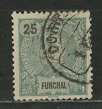 PORTUGAL - FUNCHAL 1897 KING CARLOS I,DEFINITIVES, 25R Mi 18A USED (ΜΕΜΞ  011)