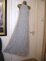 8  ASOS GREY EMBELLISHED MAXI DRESS BEAD LOOSE FIT PARTY WEDDING BRIDESMAID