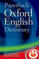 Paperback Oxford English Dictionary by Oxford Dictionaries (Paperback book, 2001