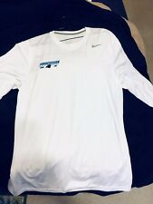Nike Men's White Custom Gmc Dri-Fit Legend Long Sleeve Running Shirt