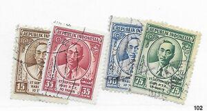 Indonesia #141-417 - Stamp CAT VALUE $5.00