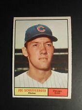 1961 TOPPS BASEBALL #58 JOE SCHAFFERNOTH    CHICAGO CUBS