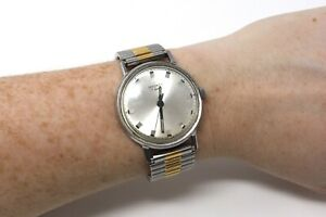 A Great Vintage Gents Stainless Steel Sekonda Manual Wristwatch Running #28748