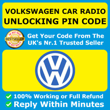 VW Radio PIN Code Unlock Decode RCD510 RCD310 RNS315 Beta Gamma Fast Service ✅