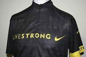 Livestrong Full Zipper Cycling Jersey Shirt  - XXXL -Black- Lance Armstrong Top