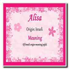Alisa Personalizado Nombre significa Coaster