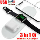 3in1 QI Wireless Charger Charging Dock Station For Apple AirPods / iPhone/ Watch