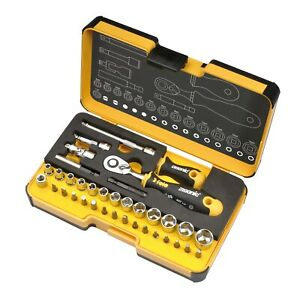 FELO 36pcs. Tool Set, Ratchet, Bits, Sockets and Accessories, Made in Germany
