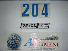 "388/CLS FREGIO-LOGO-SIGLA(BADGE) LATERALE SX FIAT RITMO  ""75 CL"" IN METALLO"