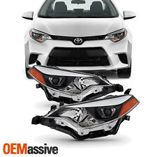 Fits 2014 2015 2016 Toyota Corolla LED Chip Projector Headlight Replacement Pair