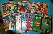 COMIC BOOK LOT of 14 DC Marvel & Others #1's Spiderman X-Men Superman Wolverine