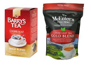 McEntees GOLD BLEND  Loose Tea 250g & Barrys Tea GOLD BLEND Loose Leaf 250g